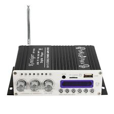 Mini Bluetooth Hi-Fi Stereo Amplifier Bass Booster MP4 12V for Car Motorcycle