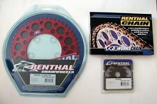 Renthal Chain And Red Sprocket Kit CR CRF 125/250/450/500 R X Motocross