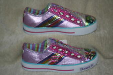 GIRLS SKECHERS SPORTY SHORTY LIGHT UP SHOES US SIZE 11(2152)
