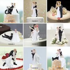 New Funny Wedding Cake Toppers Figurine Bride Groom Marriage Gift Topper X1S3