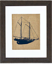Fiber & Water Schooner Sailboat Framed Art