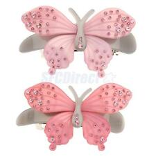 Stunning Acrylic Butterfly Barrette Hair Clip French Spring Clip with Rhinestone