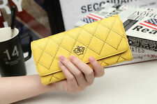 Women Lady Leather Clutch Wallet Zip Hasp Purse Credit Card Holder Handbag Bag