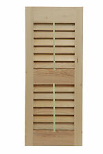 Shutters By Design Western Cedar Louvered Shutter with Faux Tilt Rod Set of 2