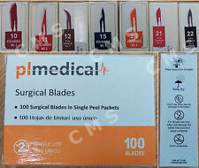 STERLING Sterile Stainless Steel Surgical Blades # 10 11 12 15 20 21 22 23 New !