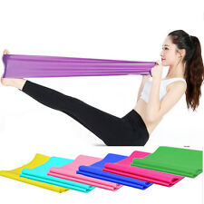 1.2m Elastic Yoga Pilates Rubber Stretch Resistance Exercise Fitness Band sport