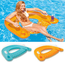 NEW Pool Swimming Float Inflatable Swimline Floating Lounge Raft Chair Water Toy