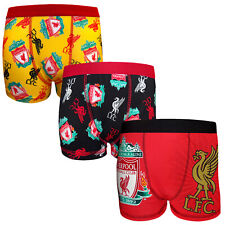Liverpool FC Official Soccer Gift 3 Pack Boys Crest Boxer Shorts