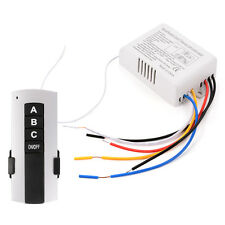 AC 220V 1/2/3/4 Ways Light Wireless Wall Control Switch with Remote Controller