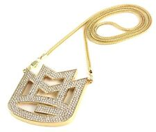 "ICED OUT MAYBACH MMG PENDANT w/ 30"" & 36"" CHAIN NECKLACE RICK ROSS HIP HOP SWAG"