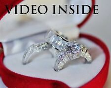 3 Rings 6.8 CT Engagement & Wedding Engagement/Wedding Ring Sets St.Silver LUXE1
