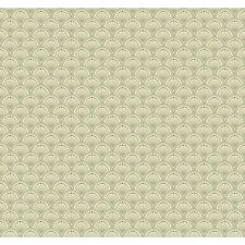 "York Wallcoverings Carey Lind Vibe Scallop 27' x 27"" Geometric Wallpaper"