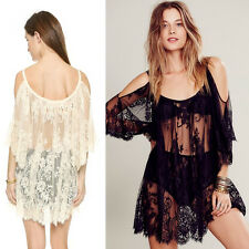 Vogue Women Bathing Suit Lace Backless Cover Up Swimwear Summer Beach Dress Gift