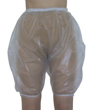 PVC Bloomers Sissy Pants Knickers Semi Clear Adult Baby Panties Plastic Trans