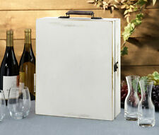 LILLIAN ROSE WEDDING ANTIQUE WHITE WINE BOX -PERSONALIZE =FREE SHIPPING!