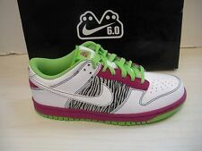 NIKE WOMENS DUNK LOW 6.0 SHOES-SNEAKERS -314141-611- WHITE/PINK/GREEEN- 8.5- NEW