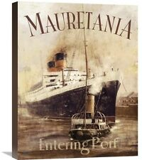 'Mauretania' by Kevin Walsh Vintage Advertisement on Wrapped Canvas