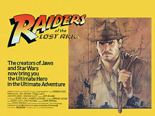Home Wall Art Print - Vintage Movie Poster - INDIANA JONES RAIDERS - A4,A3,A2,A1