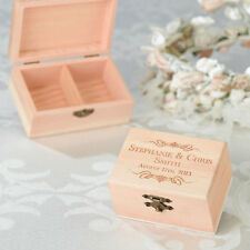 ALTERNATIVE WEDDING RING WOOD BOXES-8 STYLES CHOOSE INSCRIPTED OR PERSONALIZE