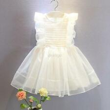 Baby Girls Outfit Dress Kids Bow Wedding Party Pageant Tulle Tutu Cake Dresses