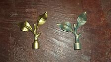 "BRANCH Wrought Iron Curtain Finials / Holdbacks for 3/4"" Diam. Poles (Set of 2)"