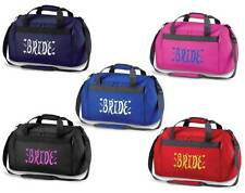 PERSONALISED PRINTED HOLDALL WITH BRIDE DESIGN-honeymoon wedding groom hen bag