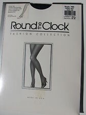 ROUND THE CLOCK STYLE 765 STRIPES PANTYHOSE LIGHT CONTROL TOP SIZE  A-B