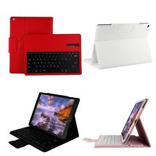 Wireless Bluetooth Keyboard Leather Tablet Back Buckle Case Stand Cover For iPad