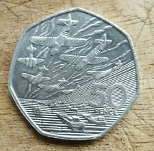 OLD LARGE 50 PENCE COIN D DAY LANDING 1994