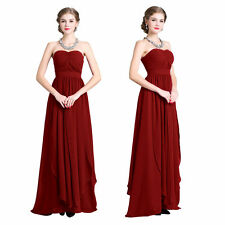 New Women's Chiffon Long Evening Prom Dresses Formal Gowns Bridesmaid Maxi Gowns