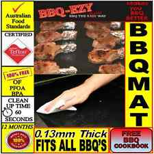BBQ Mat (5mil) for GRILLS|Double Strength|DuPont Teflon|+Money Back Guarantee