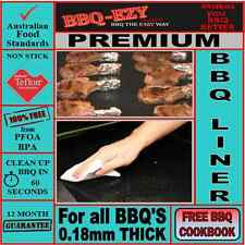 BBQ Mat Premium Teflon(2xThicker)use on GRILLS|Larger Size +Money Back Guarantee