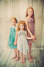 Shimmering Chiffon Pageant Flower Girl Party Dress Shiny Wedding Bridesmaid Prom