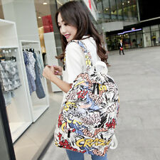 Women's Graffiti Style Backpack Travelling Bag Men Outdoor Laptop Bag Schoolbag