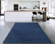 sweet home stores Cozy Shag Navy Blue Area Rug
