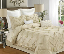 Chic Home Isabella 9 Piece Comforter Set Champagne, Sheets Bedskirt Shams Pillow