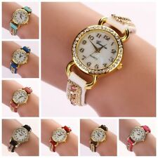 Fashion Womens Ladies Watches  Leather Strap Analog Quartz Wrist Watch Bracelet