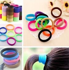 10Pc Candy Color Girls Ponytail Elastic Hair Bands Tie Rope Ring Ponytail Holder