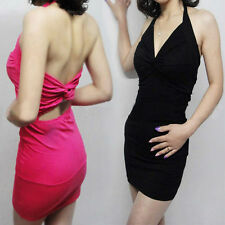 Sexy Club wear Prom Cocktail party mini Halter Dress NW