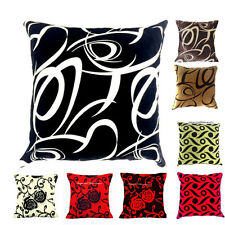 "New Cushion Cover/Filled Flock Damask Luxury Cushion Covers All Colors 18""X 18"""