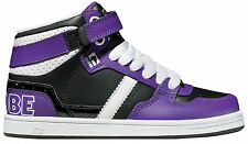 Globe High Sneaker Ankle shoe Superfly Kids black - purple Hook & loop