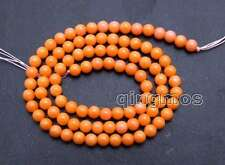 """SALE small 4-5mm Orange round Natural coral Loose Beads strand 15"""" - los658"""
