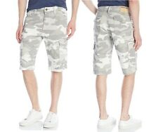 TRUE RELIGION BRAND JEANS MEN'S CASUAL  TROOPER ISAAC CARGO SHORTS SNOW CAMO
