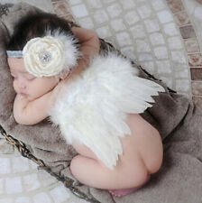 Newborn Angel Wings White Prop Outfits Girls Boys Photo Photography Costume Baby