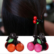 Lovely Bow Cherry Hairpin Headdress Hair Accessories Fashion Girl Clips Hot