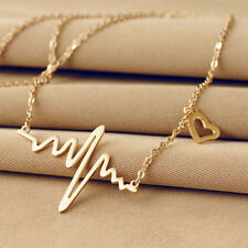 Hot Charms Jewerly Electrocardiogram Heartbeat Heart Rhythm ECG EKG Necklace