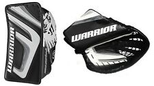 Warrior Messiah hockey pro goalie blocker glove catcher sr LH black white silver