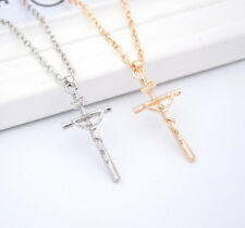 1 Pc Crucifix Jesus Jewelry Christ Cross 2016 Pendant NEW Necklace Silver Chain