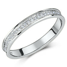 9ct White Gold Diamond Half Eternity Ring 0.15ct Diamond Ring Solid & Hallmarked