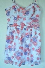 New Guess Women's Floral Print Sleeveless Dress Sz XL